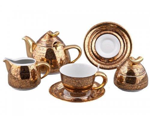 Сервиз чайный Rudolf Kampf Кельт 2252 на 6 персон 15 предметов с чайником 1,20л в подарочном коробе