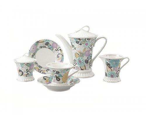 Сервиз чайный Rudolf Kampf Византия 1515 на 6 персон 15 предметов в подарочном коробе