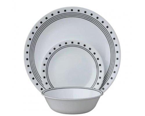 Набор посуды столовый сервиз Corelle City Block на 4 персоны 12 предметов