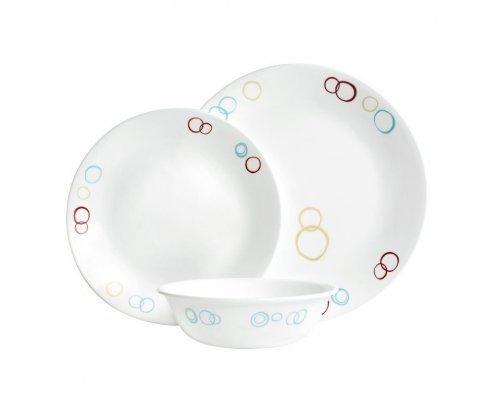 Набор посуды столовый сервиз Corelle Circles на 4 персоны 12 предметов