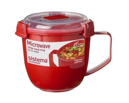 Кружка суповая 900мл Sistema MICROWAVE