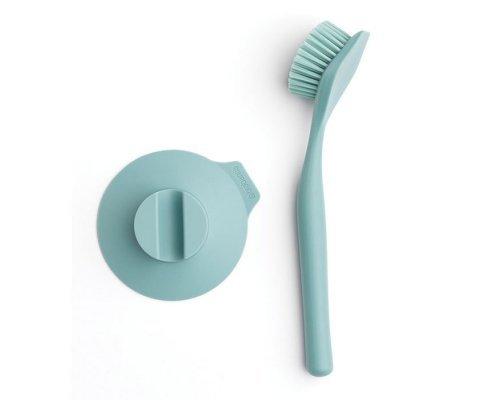 Щетка для мытья посуды с держателем на присоске, Мятный Brabantia
