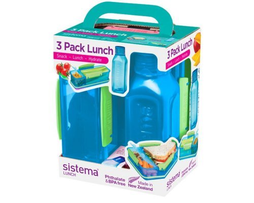 Набор Lunch: 2 контейнера и бутылка 475мл Sistema 1595