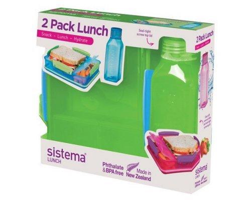 Набор Lunch: контейнер и бутылка 475мл Sistema