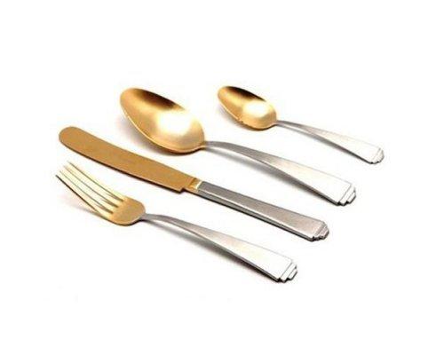 Набор столовых приборов HERDMAR SIRIUS MAT+OLD GOLD 24 предмета