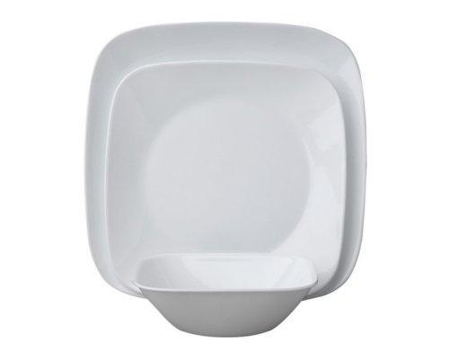Набор посуды столовый сервиз Corelle Pure White на 6 персон 18 предметов