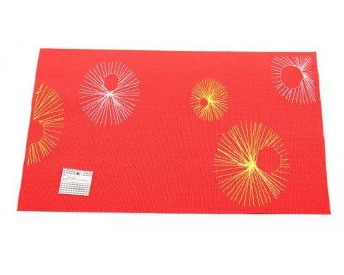 Подставка под горячее Hans & Gretchen полимер 30*40см красная круги