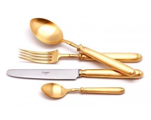 Набор столовых приборов Cutipol MITHOS GOLD мат. на 6 персон 24 предмета