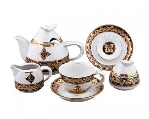 Сервиз чайный Rudolf Kampf Кельт 2298 на 6 персон 15 предметов с чайником 1,20л в подарочном коробе