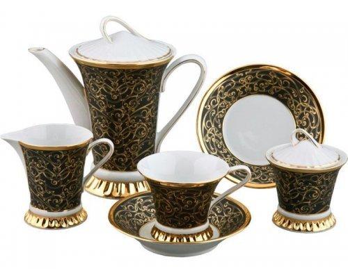 Сервиз чайный Rudolf Kampf Византия 2244 на 6 персон 15 предметов в подарочном коробе