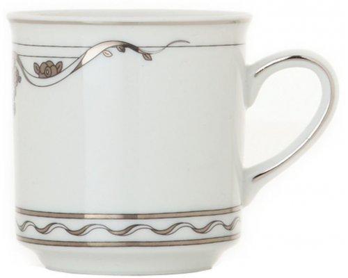 Чашка высокая с блюдцем 0,20л Rudolf Kampf Роза и Ленты 2275 в подарочном коробе