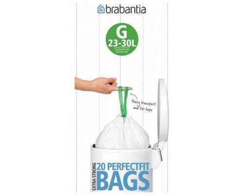 Пакет пластиковый Brabantia 23/30л 20шт