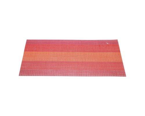Подставка под горячее HANS & GRETCHEN полимер 30х40см красная широкие полосы