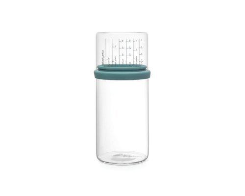 Стеклянная банка с мерным стаканом (1 л), Мятный Brabantia