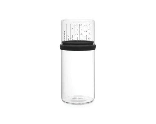 Стеклянная банка с мерным стаканом (1 л), Серый Brabantia