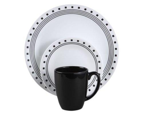 Набор посуды столовый сервиз Corelle City Block на 4 персоны 16 предметов