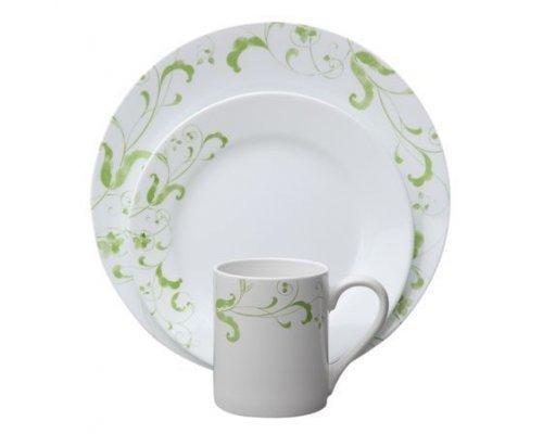 Набор посуды столовый сервиз Corelle Spring Faenza на 4 персоны 16 предметов