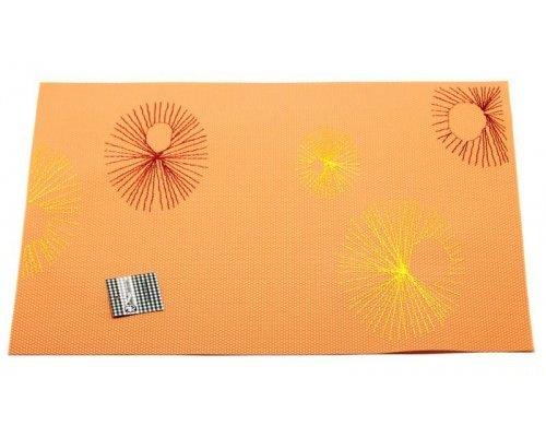 Подставка под горячее Hans & Gretchen полимер 30*40см оранжевая круги