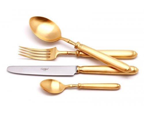 Набор столовых приборов Cutipol MITHOS GOLD мат. на 12 персон 72 предмета