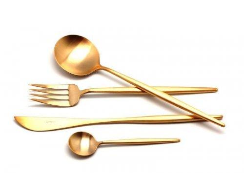 Набор столовых приборов Cutipol MOON GOLD мат. на 6 персон 24 предмета