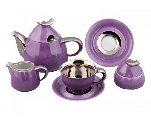 Сервиз чайный Rudolf Kampf Кельт 2401 на 6 персон 15 предметов с чайником 1,20л в подарочном коробе