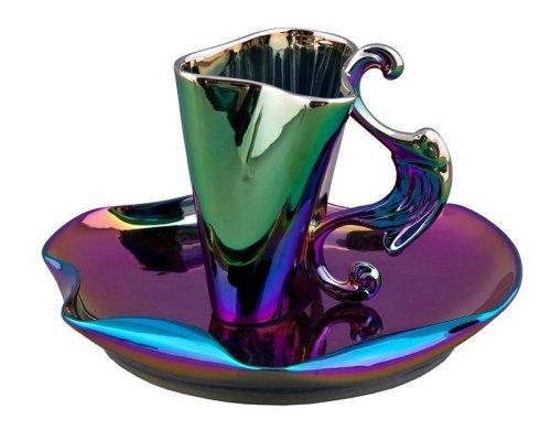 Чашка высокая с блюдцем Rudolf Kampf Дали 2302 0,15л в подарочном коробе