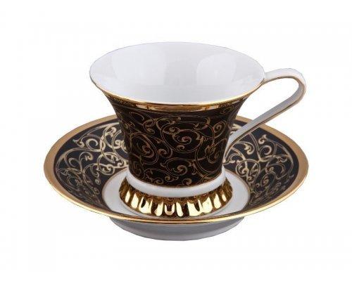Чашка выс. с блюдцем 0,20л Rudolf Kampf Византия 2244 в подарочном коробе