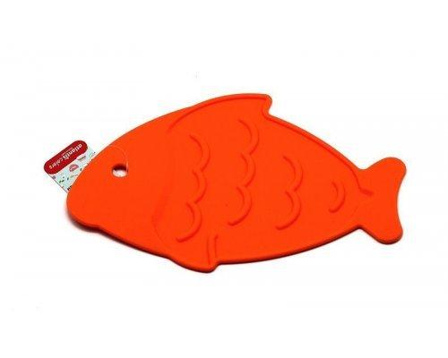 "Подставка под горячее Atlantis Silicon ""Рыба"" оранжевая"