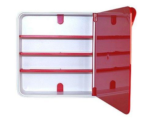 Ящик для лекарств BYLINE полированный красный