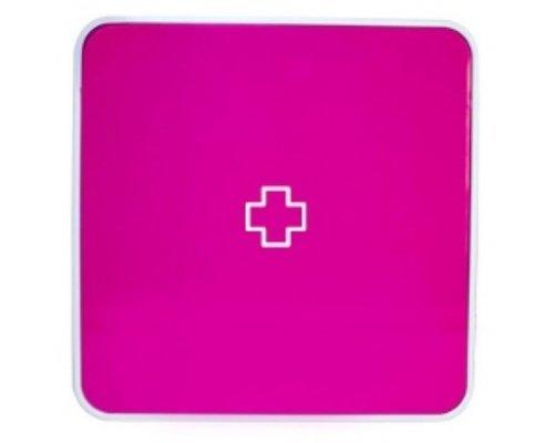 Ящик для лекарств BYLINE матовый розовый