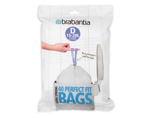 Пакет пластиковый Brabantia D 15-20л 40шт