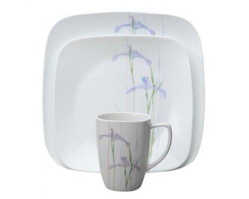 Набор посуды столовый сервиз Corelle Shadow Iris на 4 персоны 16 предметов
