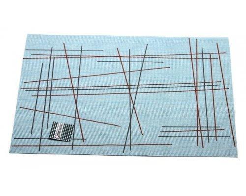 Подставка под горячее Hans & Gretchen полимер 30*40см серая штрихи