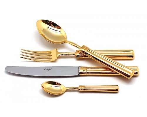 Набор столовых приборов Cutipol FONTAINEBLEAU GOLD на 6 персон 24 предмета