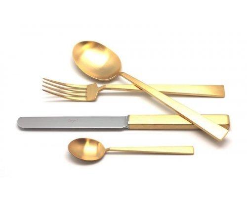 Набор столовых приборов Cutipol BAUHAUS GOLD мат. на 6 персон 24 предмета