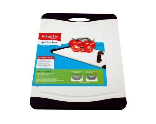 Кухонная доска Microban FLUTTO 37*25см Черно-белая