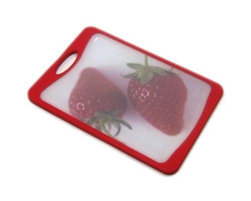 Кухонная доска Microban FLUTTO 37*25см Красная клубника