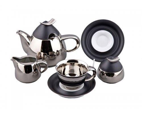 Сервиз чайный Rudolf Kampf Кельт 252А на 6 персон 15 предметов с чайником 1,20л в подарочном коробе