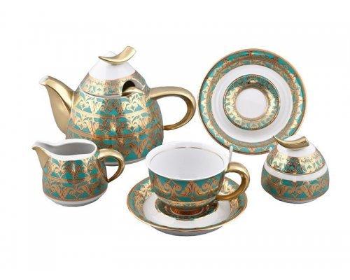Сервиз чайный Rudolf Kampf Кельт 2292 на 6 персон 15 предметов с чайником 0,55л в подарочном коробе