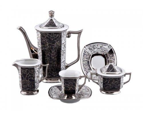 Сервиз мокко кофейный Rudolf Kampf Ампир 2335k на 6 персон 15 предметов в подарочном коробе