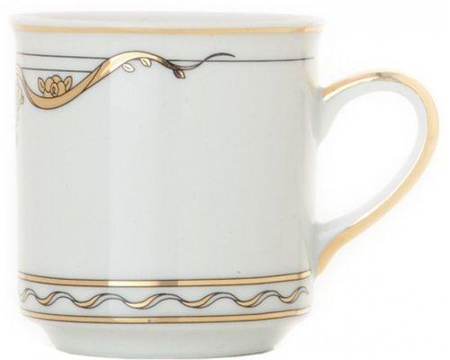 Чашка высокая с блюдцем 0,20л Rudolf Kampf Роза и Ленты 2274 в подарочном коробе