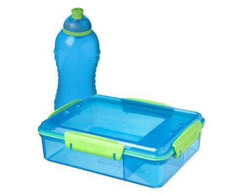 Набор контейнер с разделителями 975мл и бутылка 330мл Sistema