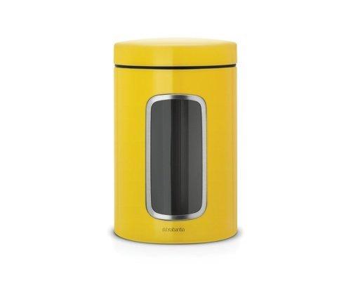 Контейнер для сыпучих продуктов с окном 1,4л. Brabantia Желтая маргаритка