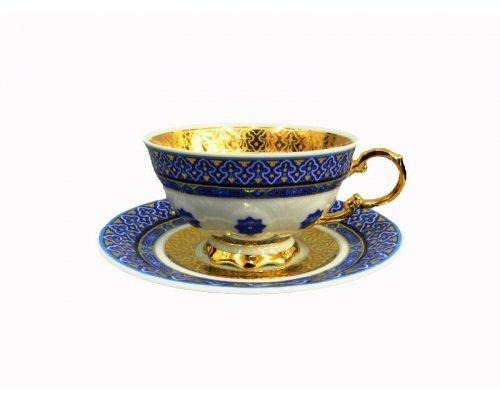 Чашка низкая с блюдцем 0,2л Rudolf Kampf Национальные Традиции 2085 линия Узбекистан