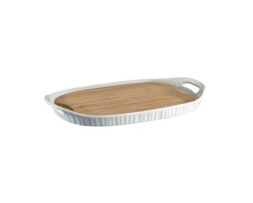 Форма CorningWare прямоугольная 40х25см с бамбуковой доской