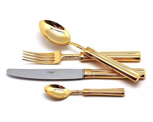 Набор столовых приборов Cutipol FONTAINEBLEAU GOLD на 12 персон 72 предмета