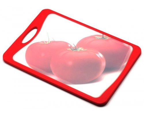 Кухонная доска Microban FLUTTO 37*25см Красная помидоры