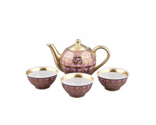 Подарочный набор чайный Тет-а-тет Rudolf Kampf Александрия 2281 на 3 персоны 0.2 л