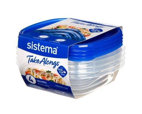 Набор контейнеров Sistema TakeAlongs 669мл (4шт)