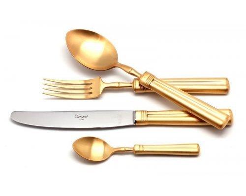 Набор столовых приборов Cutipol FONTAINEBLEAU GOLD матовый на 12 персон 72 предмета